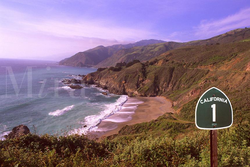 Scenic Pacific Coast Highway 1 near Big Sur, California