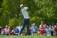 Dylan Frittelli (RSA) watches his tee shot on 12 during 4th round of the 100th PGA Championship at Bellerive Country Club, St. Louis, Missouri. 8/12/2018.<br /> Picture: Golffile   Ken Murray<br /> <br /> All photo usage must carry mandatory copyright credit (© Golffile   Ken Murray)