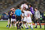Players of Qatar celebrates after Abdel Aziz Hatim of Qatar scoring his goal during the AFC Asian Cup UAE 2019 Quarter Finals match between Qatar (QAT) and South Korea (KOR) at Zayed Sports City Stadium  on 25 January 2019 in Abu Dhabi, United Arab Emirates. Photo by Marcio Rodrigo Machado / Power Sport Images