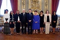 Photo family of the President of the Republic with  the Conti's government women ministers <br /> Rome September 5th 2019. Quirinale. Swearing ceremony  of the new Italy's Government.<br /> Foto  Samantha Zucchi Insidefoto