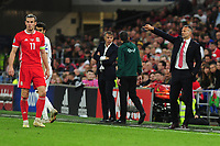 Ryan Giggs Manager of Wales shouts instructions to his team from the dug-out during the UEFA Euro 2020 Qualifier match between Wales and Azerbaijan at the Cardiff City Stadium in Cardiff, Wales, UK. Friday 06, September 2019