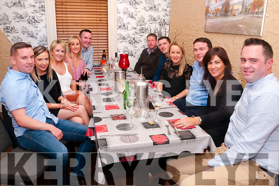 Special Birthday: Paul Wallace, Glin centre at back celebrating a special birthday with family & friends at Eabha Joan's Restaurant, Listowel on Saturday night last.