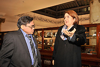 Consul General  Elsa Gladys Cifuentes Aranzazu during a visitat  to the Mechanics Institute, Manhattan, New York, United States, on December 19, 2012. VizzorImage