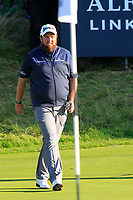 Shane Lowry (IRL) on the 18th green during Round 3 of the Alfred Dunhill Links Championship 2019 at St. Andrews Golf CLub, Fife, Scotland. 28/09/2019.<br /> Picture Thos Caffrey / Golffile.ie<br /> <br /> All photo usage must carry mandatory copyright credit (© Golffile | Thos Caffrey)