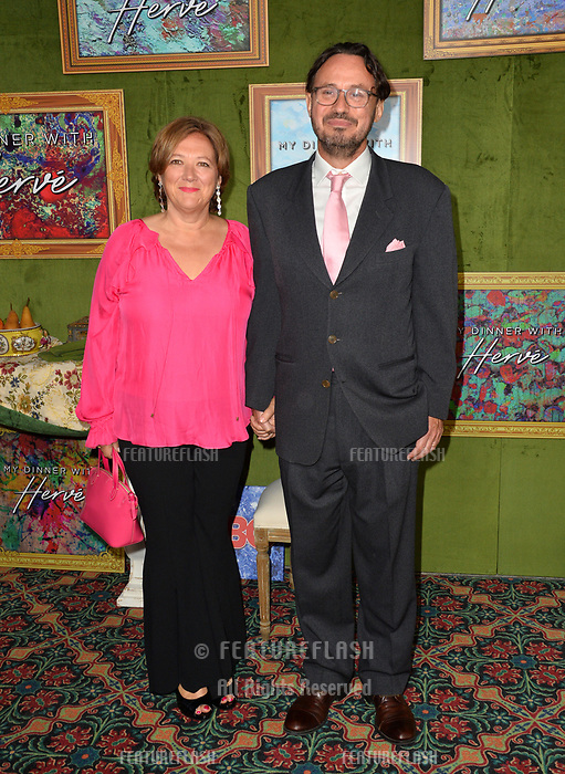 LOS ANGELES, CA. October 04, 2018: David Norland &amp; Lucy Broadbent at the Los Angeles premiere for &quot;My Dinner With Herve&quot; at Paramount Studios.<br /> Picture: Paul Smith/Featureflash