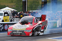 Jun 19, 2015; Bristol, TN, USA; NHRA funny car driver Chad Head during qualifying for the Thunder Valley Nationals at Bristol Dragway. Mandatory Credit: Mark J. Rebilas-