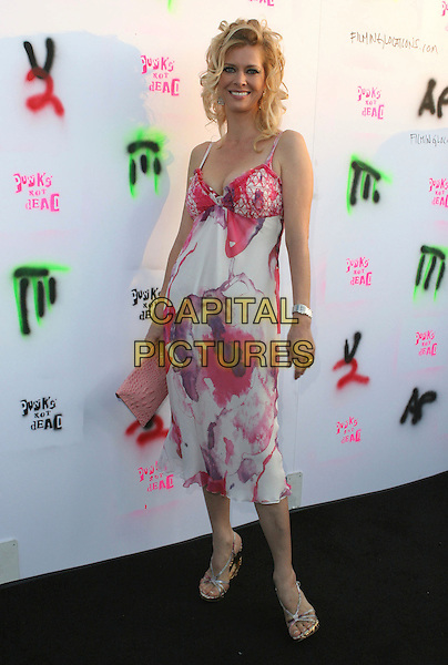 """ANITA SEELIG .""""Punks Not Dead"""" Los Angeles Premiere held at the Henry Fonda Music Box Theater, Hollywood, California, USA..May 30th, 2007.full length white pink purple pattern dress .CAP/ADM/CH.©Charles Harris/AdMedia/Capital Pictures"""