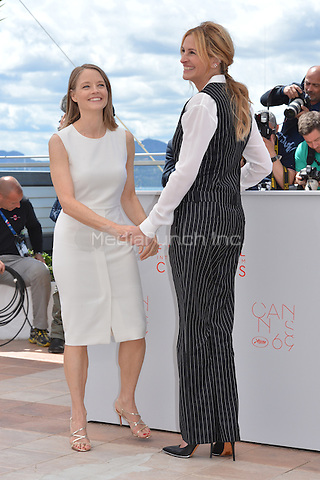 Julia Roberts and Jodie Forster at the Photocall &laquo;Money Monster` - 69th Cannes Film Festival on May 12, 2016 in Cannes, France.<br /> CAP/LAF<br /> &copy;Lafitte/Capital Pictures<br /> Julia Roberts and Jodie Forster at the Photocall &acute;Money Monster` - 69th Cannes Film Festival on May 12, 2016 in Cannes, France.<br /> CAP/LAF<br /> &copy;Lafitte/Capital Pictures /MediaPunch ***NORTH AMERICA AND SOUTH AMERICA ONLY***