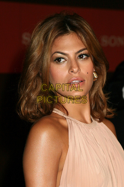 EVA MENDES.Sony Global Marketing Partners? Conference Closing Celebration on Rodeo Drive, Beverly Hills, California, USA, 29 September 2006..portrait headshot beige dress cream pale pink.Ref: ADM/BP.www.capitalpictures.com.sales@capitalpictures.com.©Byron Purvis/AdMedia/Capital Pictures.
