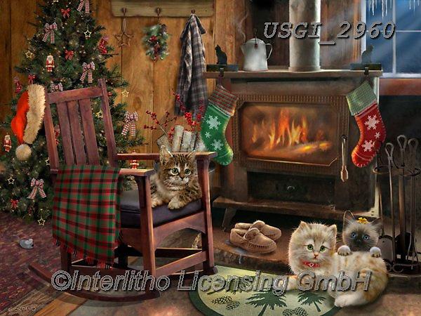 GIORDANO, CHRISTMAS ANIMALS, WEIHNACHTEN TIERE, NAVIDAD ANIMALES, paintings+++++,USGI2960,#xa#