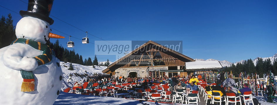 "Europe/France/Rhone-Alpes/73/Savoie/Courchevel : Courchevel 1850 Terrasse du Restaurant de piste ""Le Chalet de Pierre"""
