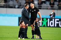 1st November 2019, Tokyo, Japan;  Steve Hansen head coach congratulates Sonny Bill Williams (NZL);  2019 Rugby World Cup 3rd place match between New Zealand 40-17 Wales at Tokyo Stadium in Tokyo, Japan.  - Editorial Use