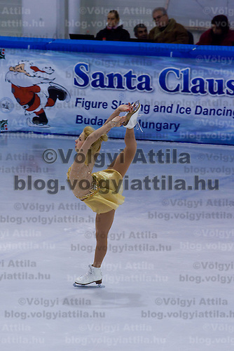 Viktoria Pavuk performs during the women's figure skating national championships held in Budapest's Practice Ice Center. Budapest, Hungary. Sunday, 09. January 2011. ATTILA VOLGYI