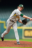 Relief pitcher Brooks Pinckard #16 of the Baylor Bears in action against the Houston Cougars at Minute Maid Park on March 4, 2011 in Houston, Texas.  Photo by Brian Westerholt / Four Seam Images