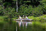 Three men fishing on the Flambeau River