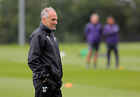 Pictured: Francesco Guidolin Wednesday 10 August 2016<br /> Re: Swansea City FC training at Fairwood training ground, UK
