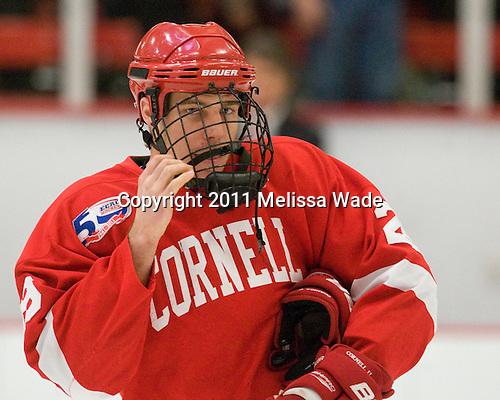 Dan Nicholls (Cornell - 29) - The visiting Cornell University Big Red defeated the Harvard University Crimson 2-1 on Saturday, January 29, 2011, at Bright Hockey Center in Cambridge, Massachusetts.