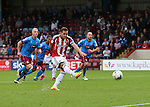 Billy Sharp of Sheffield Utd scores from the penalty spot during the English League One match at Glanford Park Stadium, Scunthorpe. Picture date: September 24th, 2016. Pic Simon Bellis/Sportimage