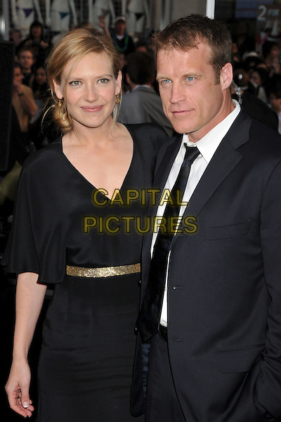"""ANNA TORV & MARK VALLEY.""""Star Trek"""" Los Angeles Premiere held at Grauman's Chinese Theatre, Hollywood, CA, USA..April 30th, 2009.half length black dress gold belt suit jacket married husband wife .CAP/ADM/BP.©Byron Purvis/AdMedia/Capital Pictures."""