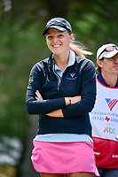 Perrine Delacour (FRA) shares a laugh on the 13 tee box during round 1 of  the Volunteers of America Texas Shootout Presented by JTBC, at the Las Colinas Country Club in Irving, Texas, USA. 4/27/2017.<br /> Picture: Golffile | Ken Murray<br /> <br /> <br /> All photo usage must carry mandatory copyright credit (&copy; Golffile | Ken Murray)