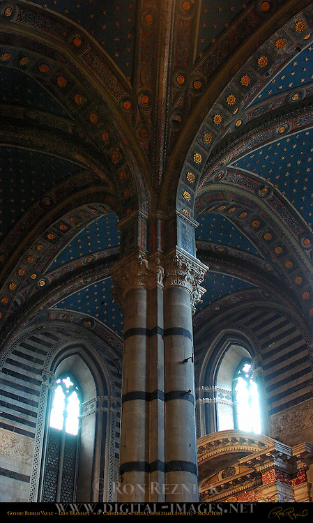 Architectural Detail Gothic Ribbed Vault Left Transept Cathedral Of Siena Santa Maria