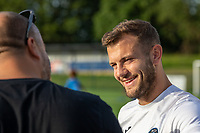 West Ham's Jack Wilshere speaks to the press during the JW19 Grassroots Soccer Camp in Letchworth on 29th June 2019