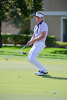 Luke Donald (GBR) reacts to barely missing his birdie attempt on 12  during round 1 of the Honda Classic, PGA National, Palm Beach Gardens, West Palm Beach, Florida, USA. 2/23/2017.<br /> Picture: Golffile | Ken Murray<br /> <br /> <br /> All photo usage must carry mandatory copyright credit (&copy; Golffile | Ken Murray)