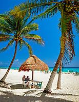 Mexiko, Yucatan, Quintana Roo, Playa Del Carmen: Strand-Bar | Mexico, Yucatan, Quintana Roo, Playa Del Carmen: Beach Bar