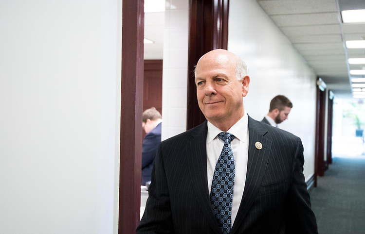 UNITED STATES - JULY 11: Rep. Steve Pearce, R-N.M., leaves the House Republican Conference meeting in the Capitol on Wednesday, July 11, 2018. (Photo By Bill Clark/CQ Roll Call)