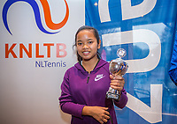 Hilversum, Netherlands, December 3, 2017, Winter Youth Circuit Masters, 12,14,and 16 years, 5 th place girls 12 years Chayenne Kasan<br /> Photo: Tennisimages/Henk Koster