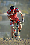 October 17, 2015 - Boulder, Colorado, U.S. - Cliff Bar cyclist, Braden Kappius #51, reaches the top of a climb before working his way through a difficult sandy pitch during the U.S. Open of Cyclocross, Valmont Bike Park, Boulder, Colorado.