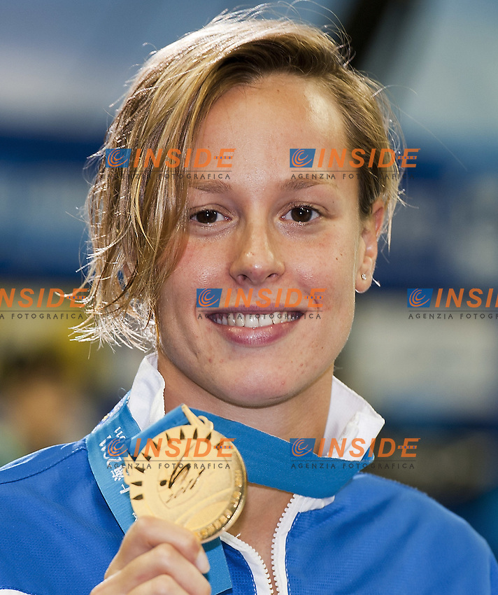Shanghai , China (CHN) 16-31 July 2001..XIV FINA Swimming World Championships..day 12..Swimming..Final..Federica Pellegrini Italy - Gold Medal..Women's 200m Freestyle....Photo C.Capponi/Insidefoto