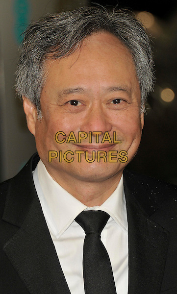 Ang Lee.EE British Academy Film Awards at The Royal Opera House, London, England 10th February 2013.BAFTA BAFTAS arrivals headshot portrait black white tie shirt.CAP/WIZ.© Wizard/Capital Pictures