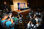 General View,<br /> JULY 7, 2015 - Football / Soccer : <br /> Japanese women's national football team attends a press conference after arriving in Chiba, Japan. <br /> Japan lost the FIFA Women's World Cup Canada 2015 Final match against United States on July 5.<br /> (Photo by Shingo Ito/AFLO SPORT)