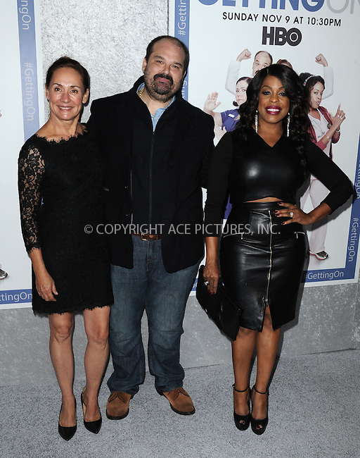 ACEPIXS.COM<br /> <br /> October 28 2014, LA<br /> <br /> (L-R) Laurie Metcalf, Mel Rodriquez and Niecy Nash arriving at the Los Angeles Premiere of HBO's 'Getting On' held at Avalon on October 28, 2014 in Hollywood, California.<br /> <br /> By Line: Peter West/ACE Pictures<br /> <br /> ACE Pictures, Inc.<br /> www.acepixs.com<br /> Email: info@acepixs.com<br /> Tel: 646 769 0430