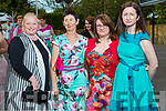 Samantha Sugrue (Farmers Bridge), Peggy Hanafin (Tralee), Noreen O'Neill (Brosna), Barbara Lynch (Brendan's Park) at the Rose of Tralee fashion show at the dome on Sunday night.