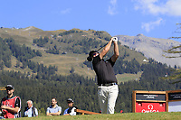 Ryan Fox (NZL) tees off the 14th tee during Sunday's Final Round 4 of the 2018 Omega European Masters, held at the Golf Club Crans-Sur-Sierre, Crans Montana, Switzerland. 9th September 2018.<br /> Picture: Eoin Clarke | Golffile<br /> <br /> <br /> All photos usage must carry mandatory copyright credit (&copy; Golffile | Eoin Clarke)