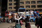 Saturday, April 14,  2007, New York, New York.. The 9th annual Tartan Day Parade was held today on 6th Avenue between 44th and 58th Streets.. Thousands turned out to play the drums, pipes and to view all those dressed for the occasion.. Dancers performed in front of the viewing station at the end of the parade route.