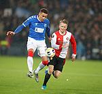 28.11.2019: Feyenoord v Rangers:  James Tavernier and Sam Larsson