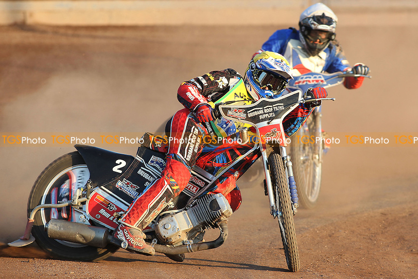 Heat 24: Nick Morris (Australia) out in front - FIM Speedway World Under-21 Team Cup Semi Final at Arena Essex Raceway, Purfleet - 27/05/12 - MANDATORY CREDIT: Gavin Ellis/TGSPHOTO - Self billing applies where appropriate - 0845 094 6026 - contact@tgsphoto.co.uk - NO UNPAID USE.