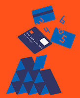 Credit card house of cards collapsing