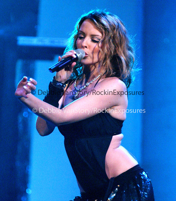 Kylie Minogue performs live at the KIIS FM Jingle Ball Concert held at The Pond in Anaheim, California on December 19,2002.Photo by Hollywood Press Agency