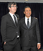 John Oliver and Aasif Mandvi arrive for the 2013 White House Correspondents Association Annual Dinner at the Washington Hilton Hotel on Saturday, April 27, 2013..Credit: Ron Sachs / CNP.(RESTRICTION: NO New York or New Jersey Newspapers or newspapers within a 75 mile radius of New York City)