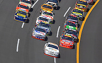 Apr 29, 2007; Talladega, AL, USA; Nascar Nextel Cup Series driver Sterling Marlin (14) leads the field during the Aarons 499 at Talladega Superspeedway. Mandatory Credit: Mark J. Rebilas