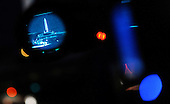 Marine One carrying United States President Barack Obama is seen thru a TV camera as he departs the White House en route to a private residence in Rockville, Maryland to attend a dinner for the DSCC , October 18, 2010  in Washington DC..Credit: Olivier Douliery / Pool via CNP