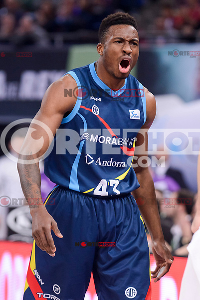 Morabanc Andorra's Thanasis Antetokounmpo during Quarter Finals match of 2017 King's Cup at Fernando Buesa Arena in Vitoria, Spain. February 16, 2017. (ALTERPHOTOS/BorjaB.Hojas) /Nortephoto.com