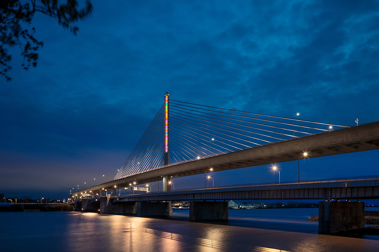 Sediment by Brien Stancar |  Toledo Veteran's Glass City Skyway Bridge | HLB Lighting