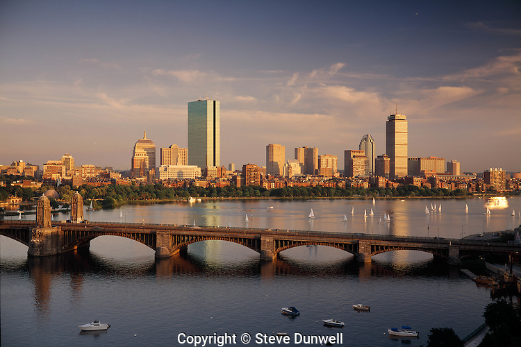 Back Bay skyline evening with Longfellow Bridge, Boston, MA  (will be EB-060)