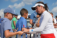 Georgia Hall (ENG) signs autographs near the green on 18 following round 3 of the Volunteers of America Texas Classic, the Old American Golf Club, The Colony, Texas, USA. 10/5/2019.<br /> Picture: Golffile   Ken Murray<br /> <br /> <br /> All photo usage must carry mandatory copyright credit (© Golffile   Ken Murray)