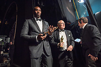 Kobe Bryant and Glen Keane pose backstage with the Oscar&reg; for best animated short film, for work on &ldquo;Dear Basketball&rdquo; during the live ABC Telecast of The 90th Oscars&reg; at the Dolby&reg; Theatre in Hollywood, CA on Sunday, March 4, 2018.<br /> *Editorial Use Only*<br /> CAP/PLF/AMPAS<br /> Supplied by Capital Pictures